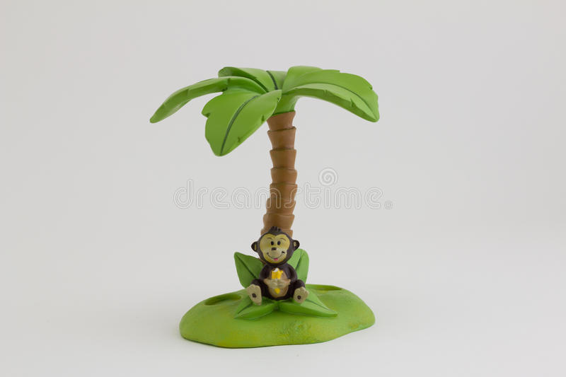 Escova de dentes da ilha do macaco no fundo branco fotografia de stock royalty free