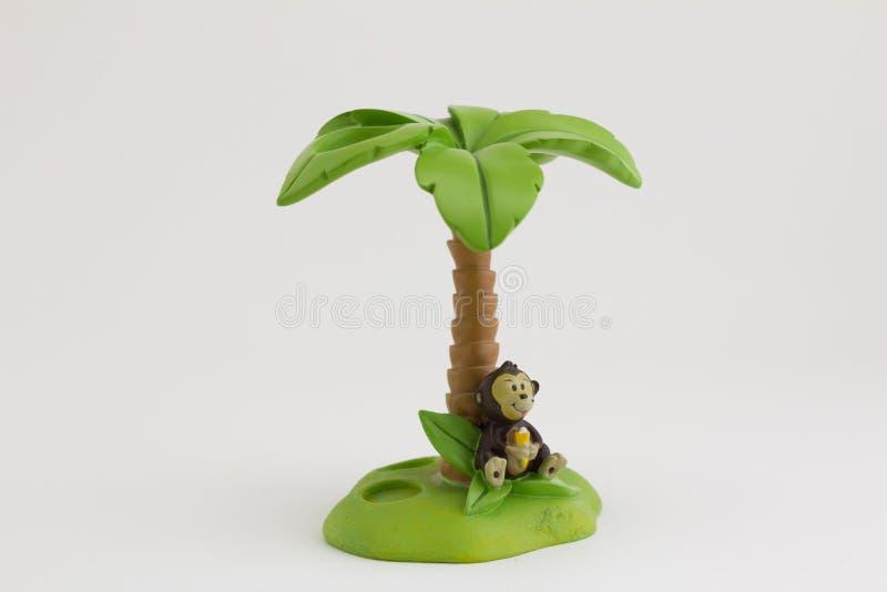 Escova de dentes da ilha do macaco no fundo branco imagens de stock royalty free