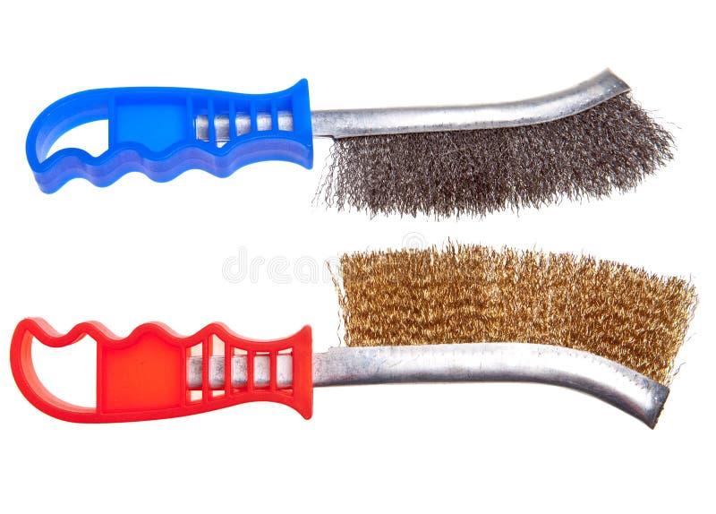 Escova de fio para a limpeza mecânica do metal fotos de stock