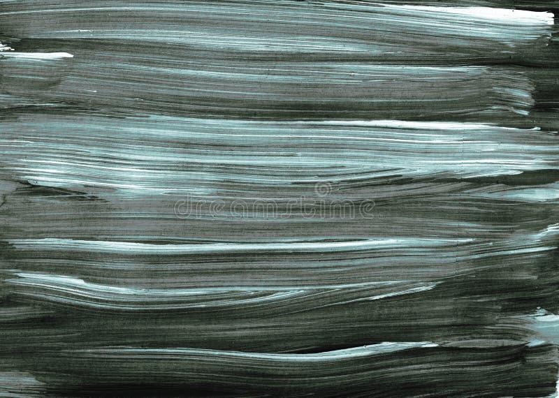 Escova de pintura azul cinzenta branca preta da ilustração do projeto da arte do fundo da textura do sumário ilustração stock