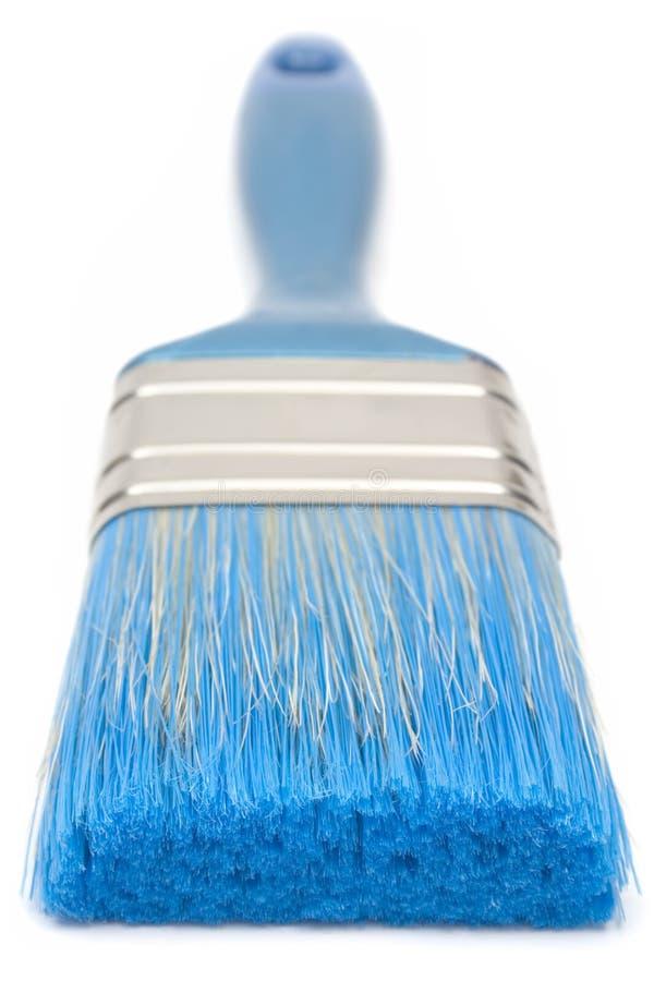Escova de pintura azul (vista dianteira) fotos de stock royalty free