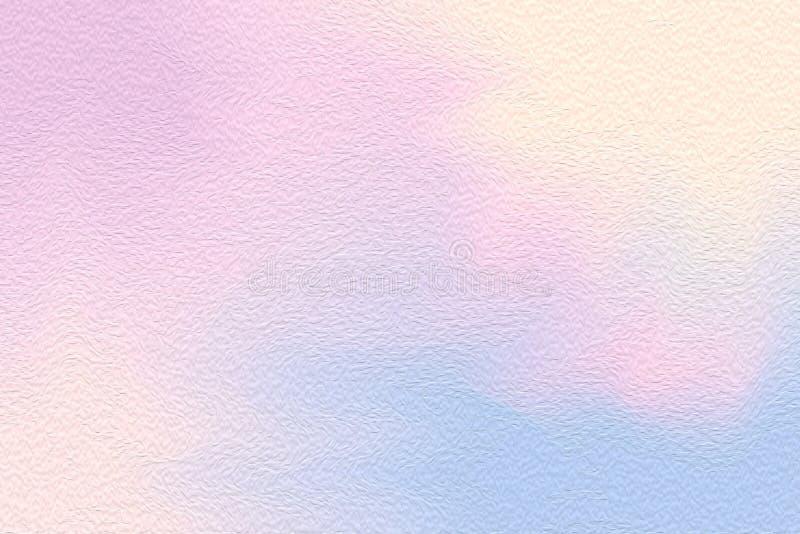 Escova de pintura brilhante colorida cor-de-rosa da arte abstrato no fundo de papel da textura, cor pastel acrílica da cor de águ ilustração royalty free