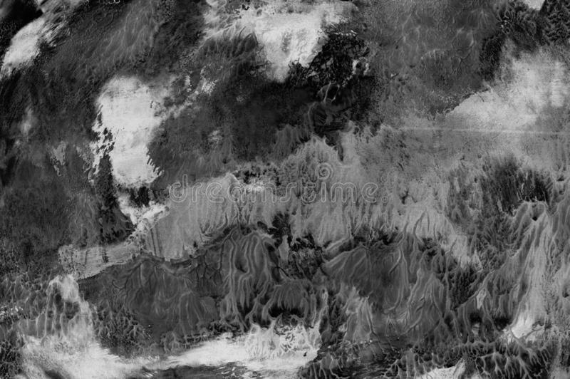 Escova de pintura cinzenta branca do projeto da arte do fundo do preto da abstração da textura ilustração stock