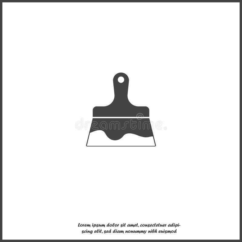 Escova de pintura da imagem do ícone do vetor no fundo isolado branco ilustração do vetor