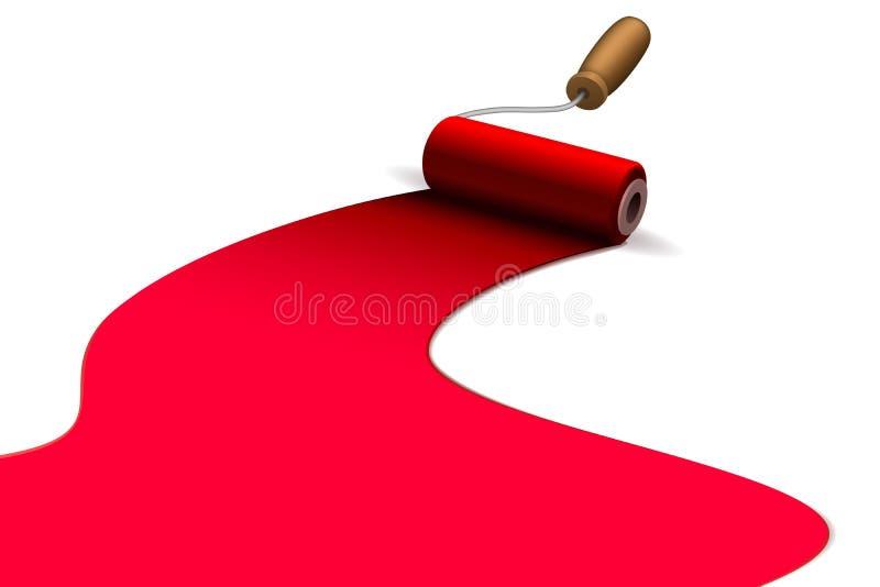 Escova de pintura do rolo ilustração do vetor