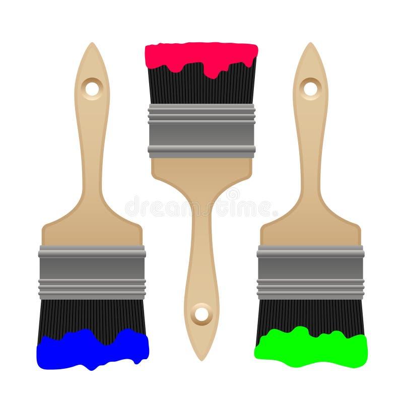 Escova de pintura do vetor ilustração stock