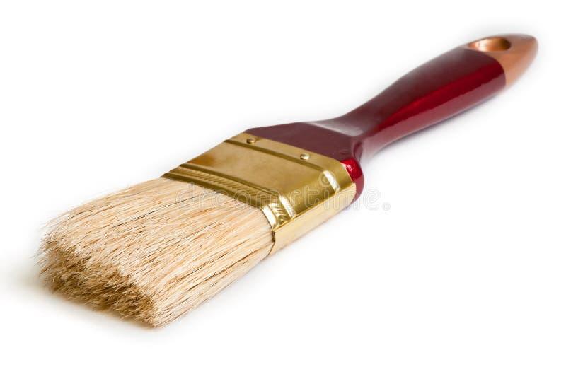 Escova de pintura isolada no fundo branco imagens de stock royalty free