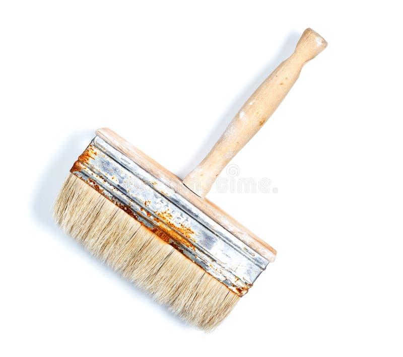 Escova de pintura usada Isolado fotos de stock