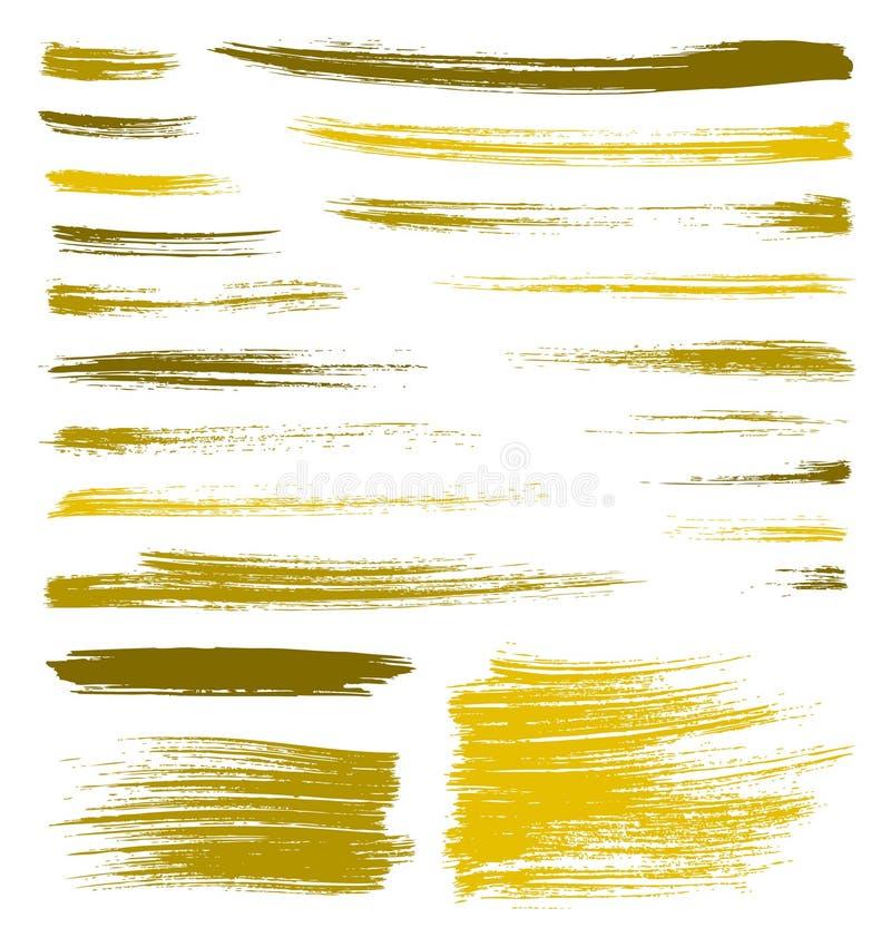 A escova do amarelo do vetor chapinha ilustração do vetor