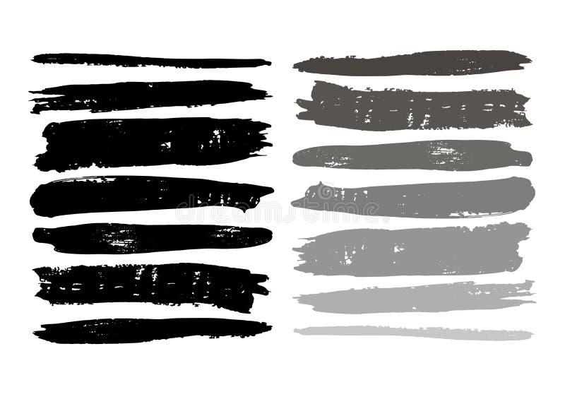 Escova do grunge da textura do sumário da mancha do fundo, stro da escova da forma ilustração royalty free