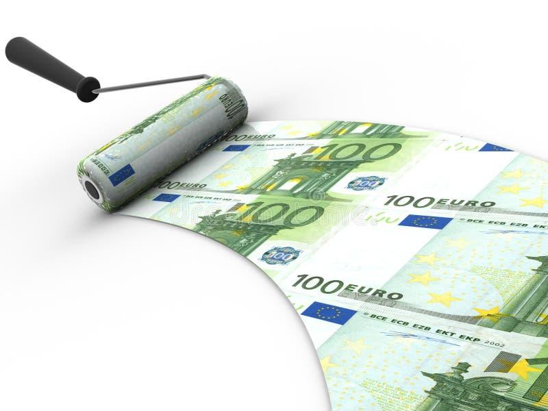 Escova do rolo. Euro-. 3d ilustração royalty free
