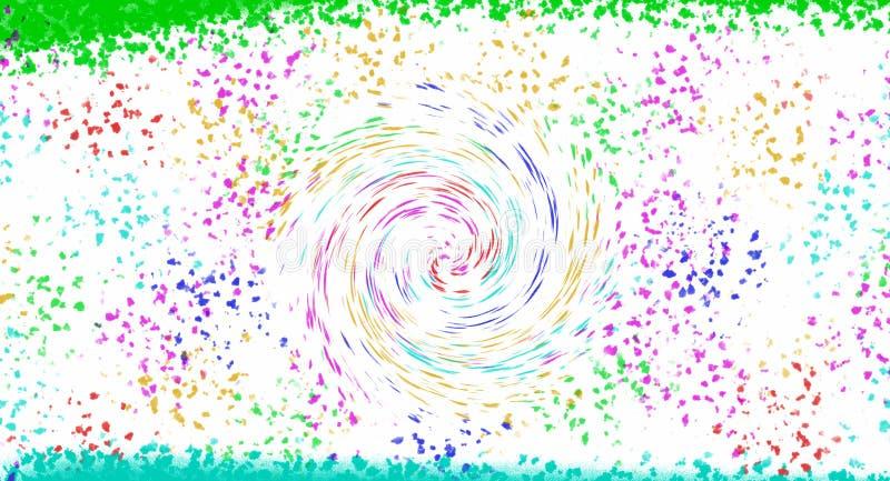 Escova e espiral da sução do funil ilustração stock