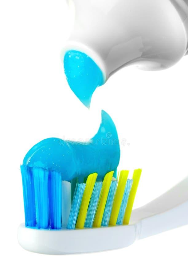 Escova e pasta dentais. fotos de stock