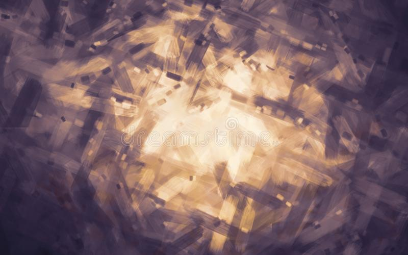 A escova gráfica artística pintou o fundo abstrato com cor ultravioleta escura moderna ilustração do vetor