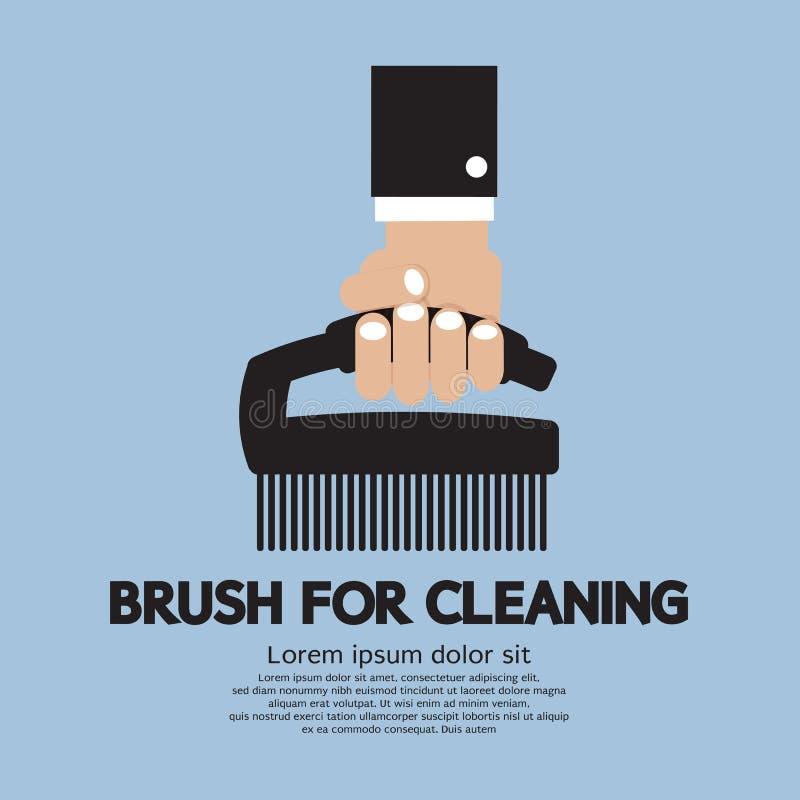 Escova para a limpeza ilustração royalty free