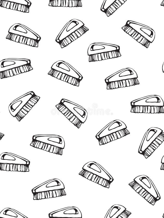 Escova para a limpeza Desenho do vetor ilustração royalty free