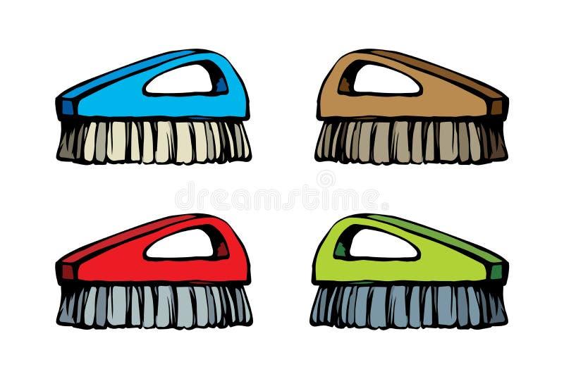 Escova para a limpeza Desenho do vetor ilustração do vetor