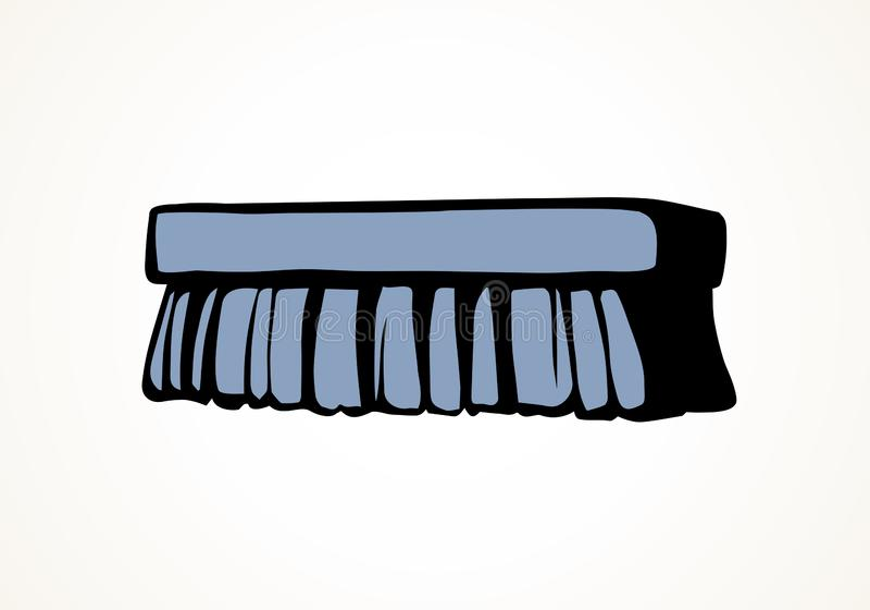 Escova para a limpeza Desenho do vetor ilustração stock