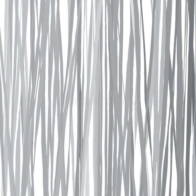 A escova tirada a mão livre alinha o teste padrão baseado da escala cinzenta ilustração royalty free