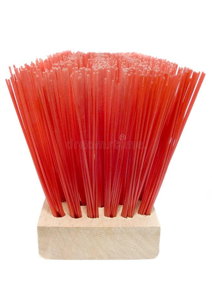 Escova vermelha de madeira imagem de stock