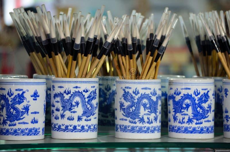 Escovar-pena chinesa imagem de stock royalty free