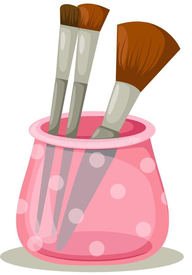 Escovas cosméticas ilustração royalty free