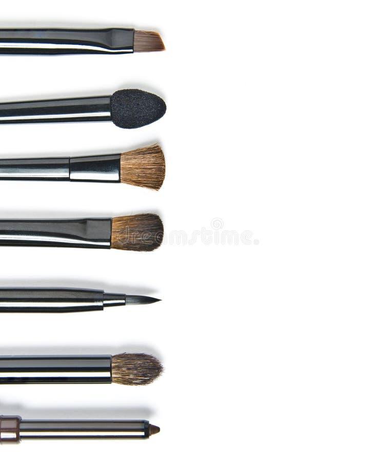 Escovas da composição fotografia de stock