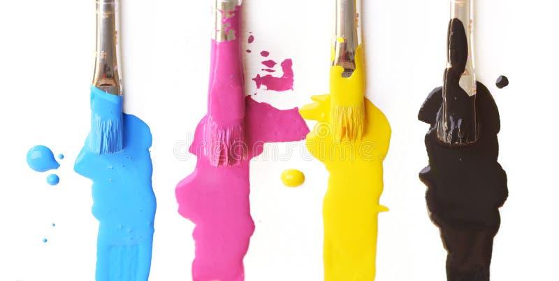 Escovas de CMYK fotos de stock