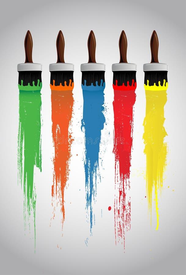 Download Escovas de pintura ilustração do vetor. Ilustração de sumário - 12806476