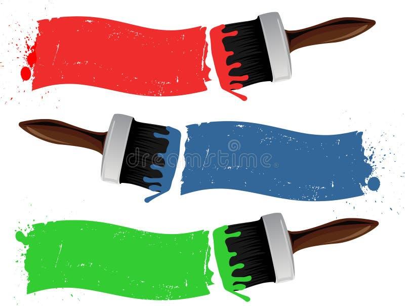 Escovas de pintura ilustração do vetor