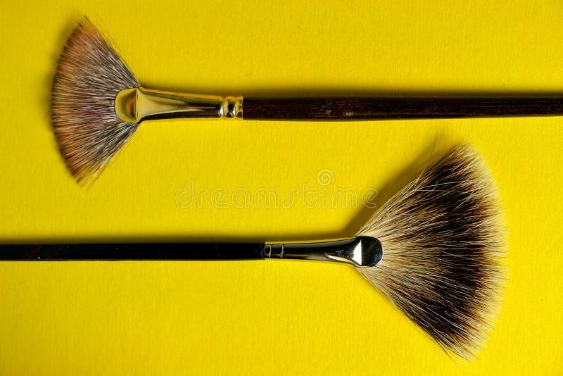 Escovas do ventilador fotografia de stock