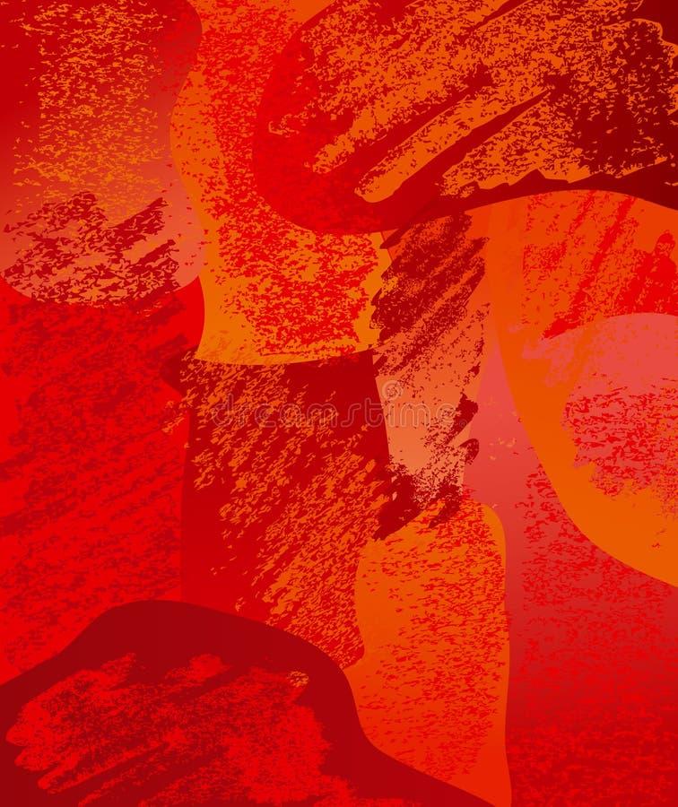 Escovas do vermelho da composição ilustração stock