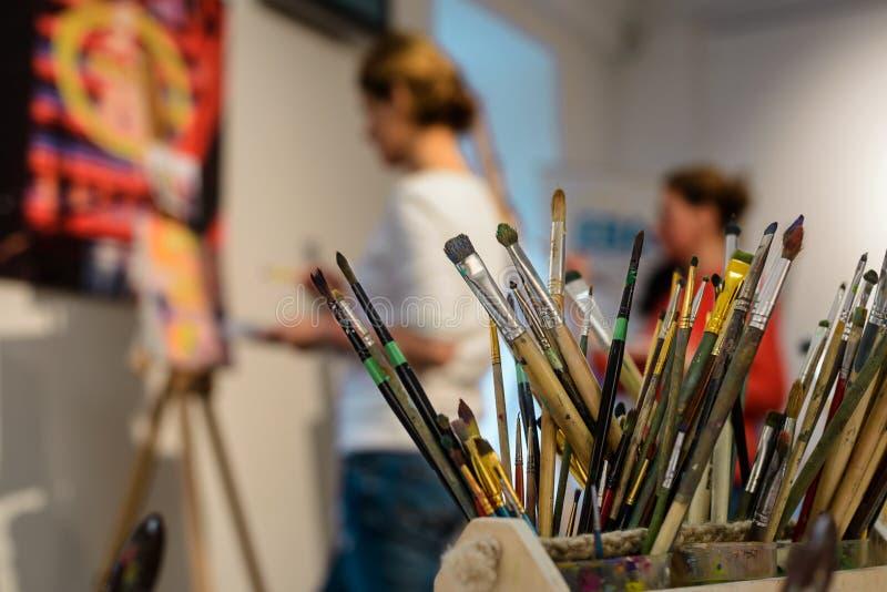 Escovas para pintar imagens de stock royalty free