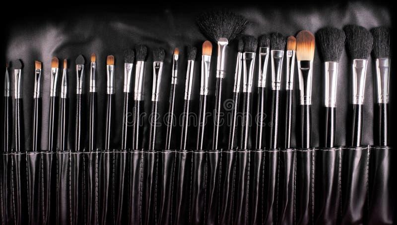 Escovas profissionais do cosmético fotografia de stock