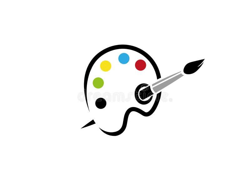 Escove a cor da pintura para a ilustração do projeto do logotipo ilustração royalty free