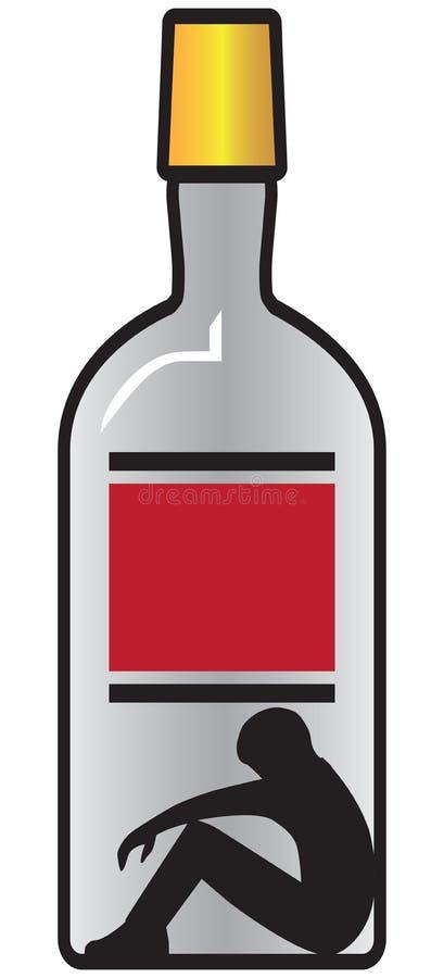 Escravo à garrafa ilustração royalty free