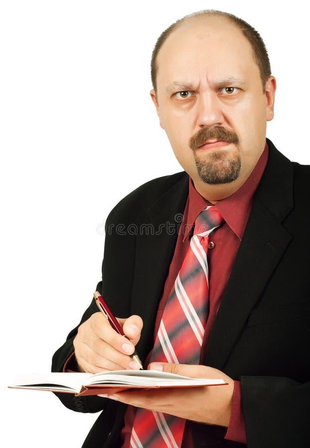 Escreva na nota fotos de stock