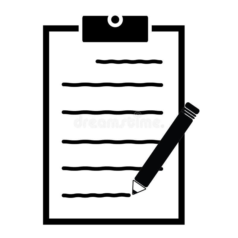 Escreva o ícone do feedback no fundo branco Estilo liso feedback FO ilustração stock