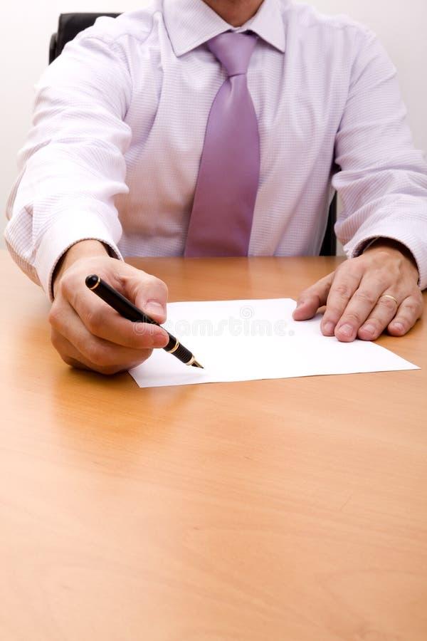 Escreva sua assinatura aqui imagens de stock