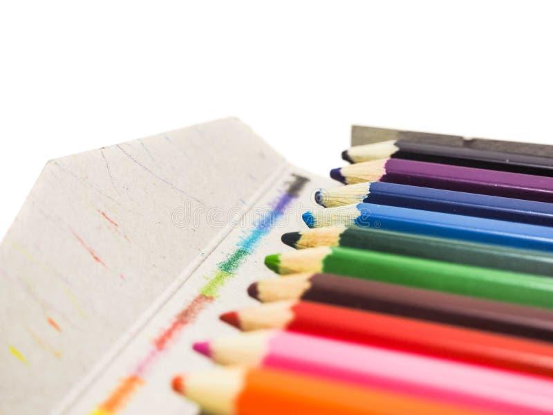 Escrevem toda a cor no fundo branco fotos de stock