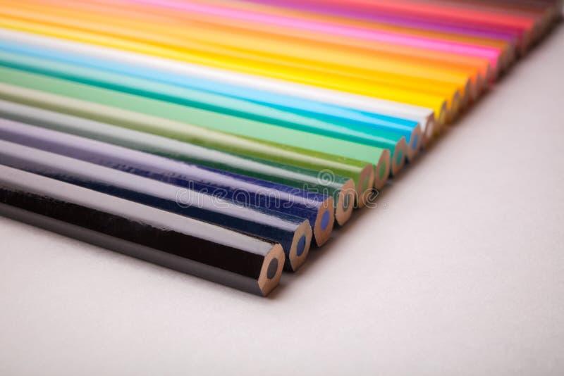Escrevem todas as cores imagens de stock