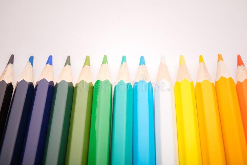 Escrevem todas as cores imagens de stock royalty free