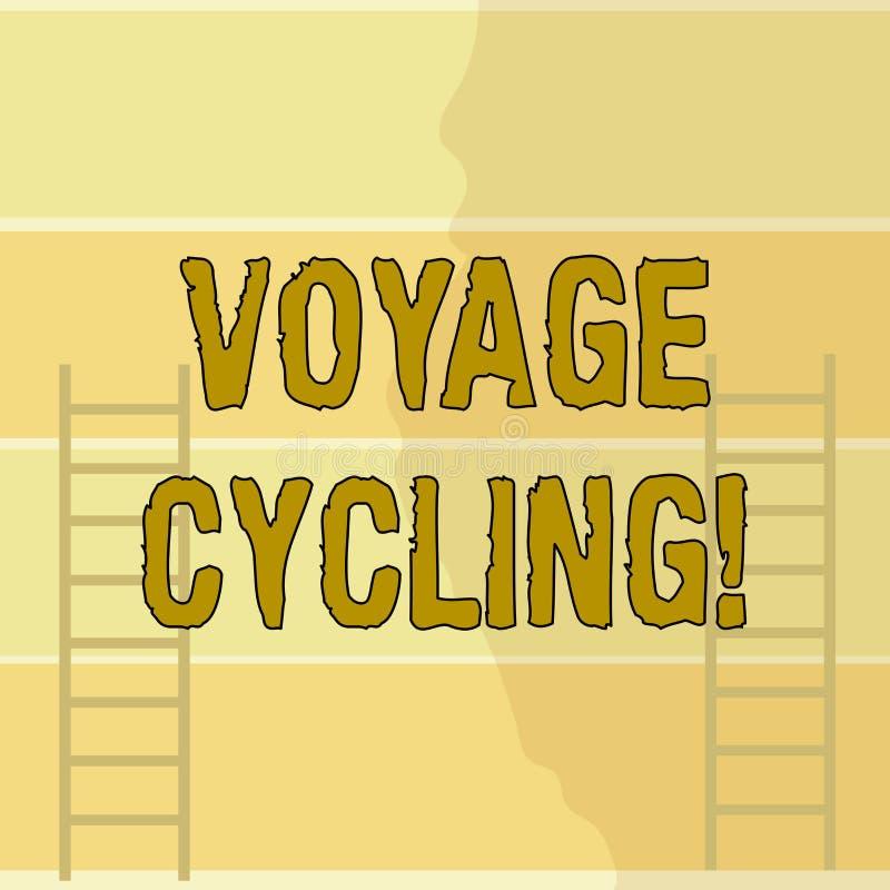 Escrevendo a ciclagem da viagem da exibi??o da nota Uso apresentando da foto do negócio das bicicletas para a recreação do transp ilustração stock