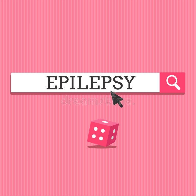 Escrevendo a epilepsia da exibição da nota Foto do negócio que apresenta em quarto a maioria de apreensões imprevisíveis comuns d ilustração stock
