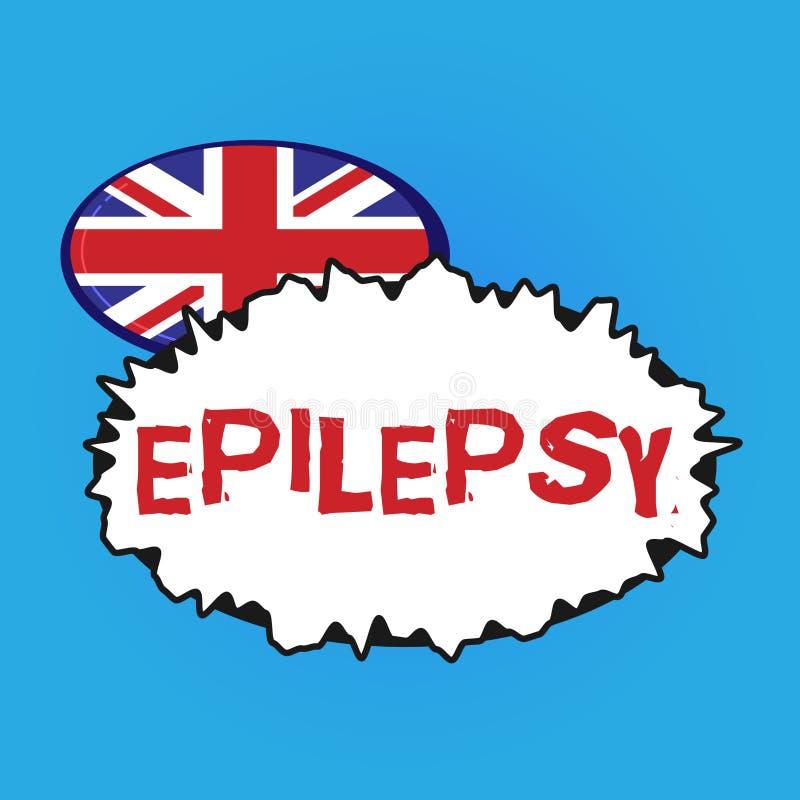 Escrevendo a epilepsia da exibição da nota Foto do negócio que apresenta em quarto a maioria de apreensões imprevisíveis comuns d ilustração royalty free