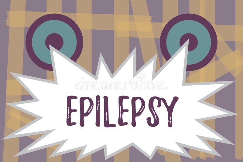 Escrevendo a epilepsia da exibição da nota Foto do negócio que apresenta em quarto a maioria de apreensões imprevisíveis comuns d ilustração do vetor