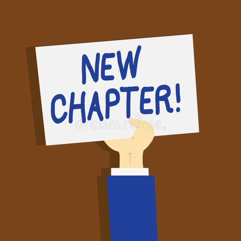 Escrevendo a exibição da nota o capítulo novo Foto do negócio que apresenta começando finalmente algo objetivos criados em sua me ilustração do vetor
