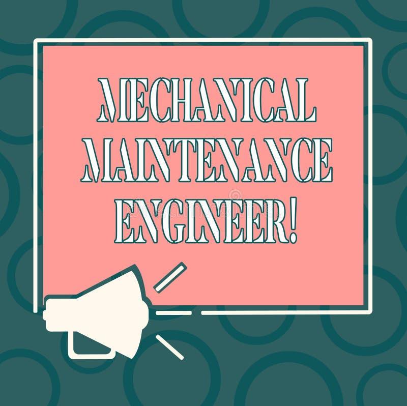 Escrevendo a exibição da nota o coordenador mecânico da manutenção Responsável apresentando da foto do negócio para a eficiência  ilustração do vetor