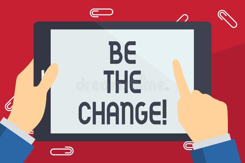 Escrevendo a exibição da nota seja a mudança Apresentar da foto do negócio faz coisas para obter o sucesso para desenvolver-se e  ilustração do vetor