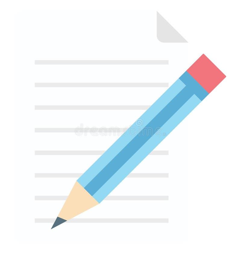 Escrevendo o ícone isolado do vetor que pode ser facilmente edite ou alterou ilustração stock